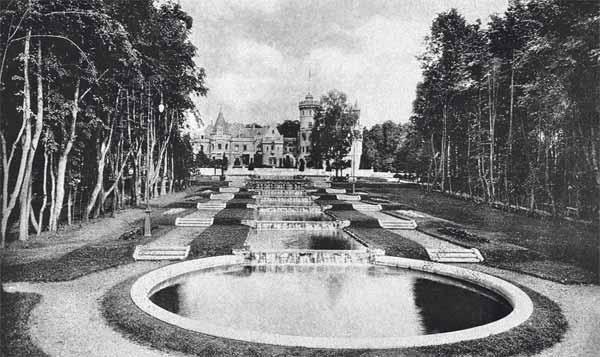 Муромцево. Водные каскады в усадебном парке. Открытка начала XX века