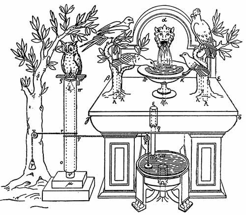 Реконструкция садового автомата Герона Александрийского<br /><br />