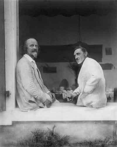 К.Д.Бальмонт и И.С.Шмелев. Вилла «Жаворонок». Капбретон. 1926<br />