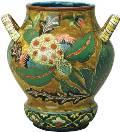 Ваза со стилизованным растительным декором. Западная Европа. Начало XX века. Керамика, роспись