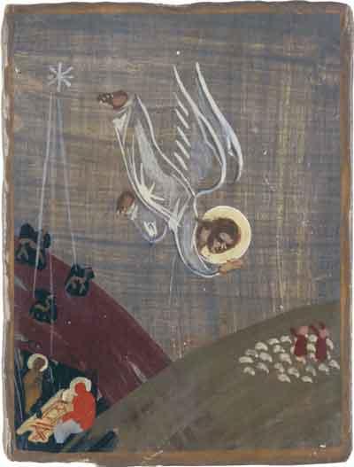 Рожде��во Х�и��ово Явление ангела па����ам 1946