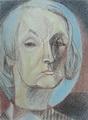 Т.Глебова. Автопортрет. 1974. Бумага, масляная пастель. Частное собрание. Москва*