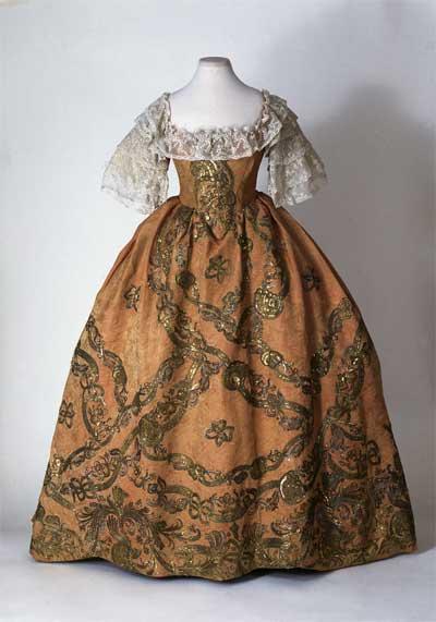 Франция 18 века платья